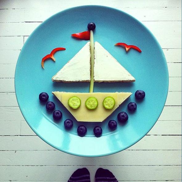 , IdaFrosk Food Art Photographie : Petits Plats Rigolos pour Enfants