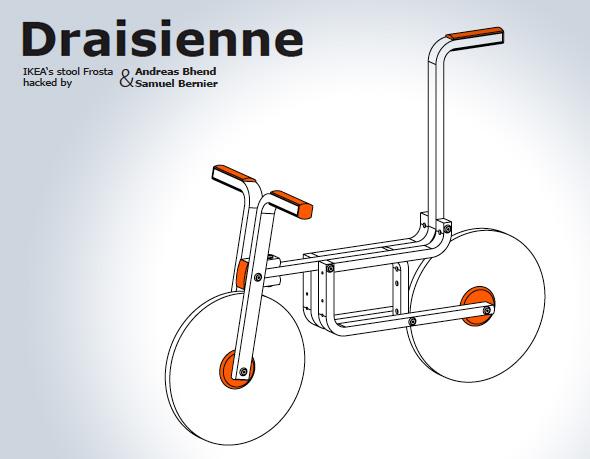 , Tabouret Ikea Frosta Transformé en Draisienne pour Enfant (vidéo)