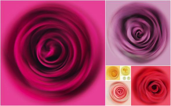 , Floral Swirls par Fong Qi Wei : Des Fleurs dans un Tourbillon de Couleurs