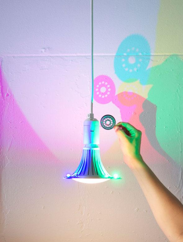 , Lampe LED CMYK aux Couleurs Chromatiques par Dennis Parren