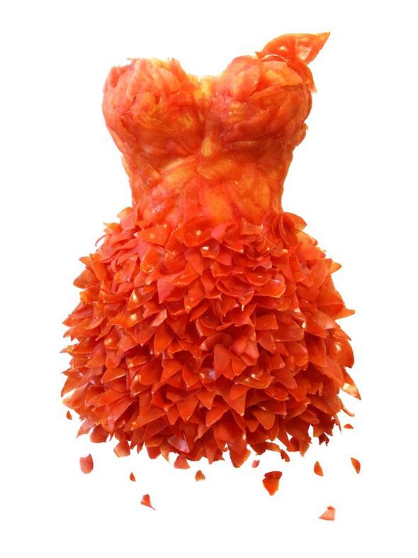 , Wearable Foods par Yeonju Sung : Etonnantes Robes en Fruits et Légumes