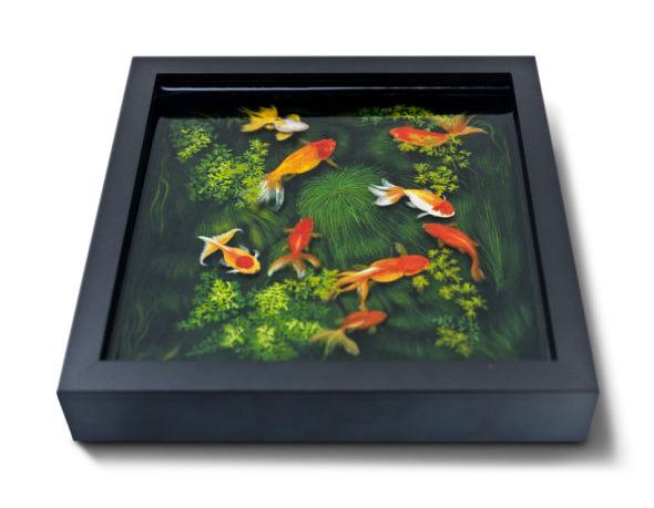 , Goldfish Salvation par Riusuke Fukahori : Spectaculaires Peintures en 3D et en Resine