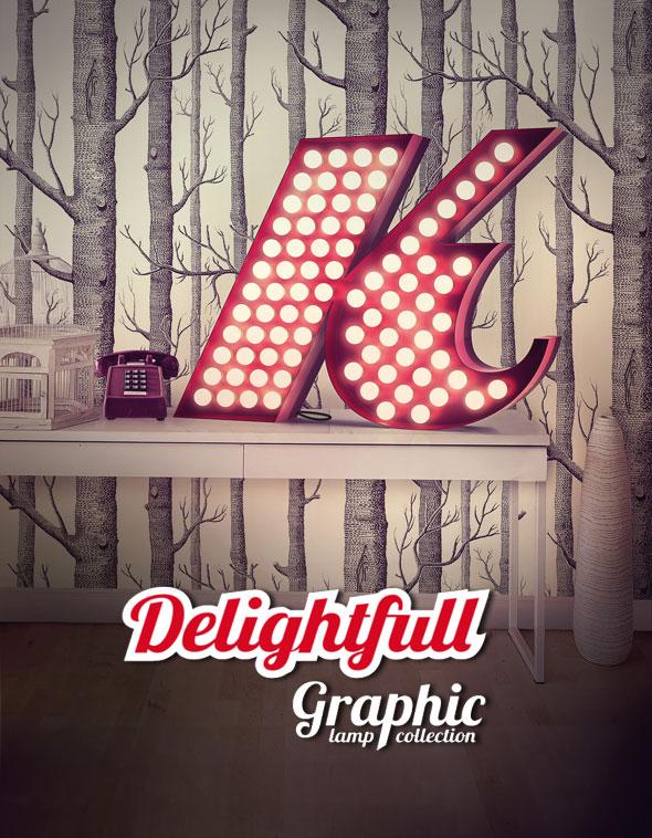 , Luminaires Delightfull : Lampes Alphabet Typographique, Retro et Deco