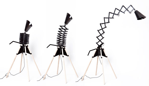 , Lampe Girafe par Bernhard Burkard : Lampadaire Telescopique