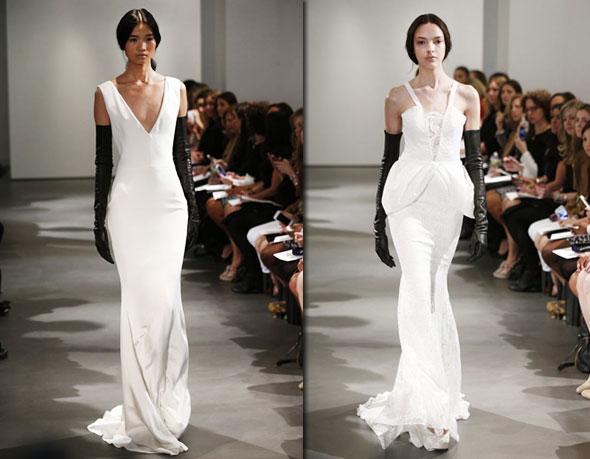 Vera Wang Printemps Ete 2014 Robes Mariees Noir Blanc