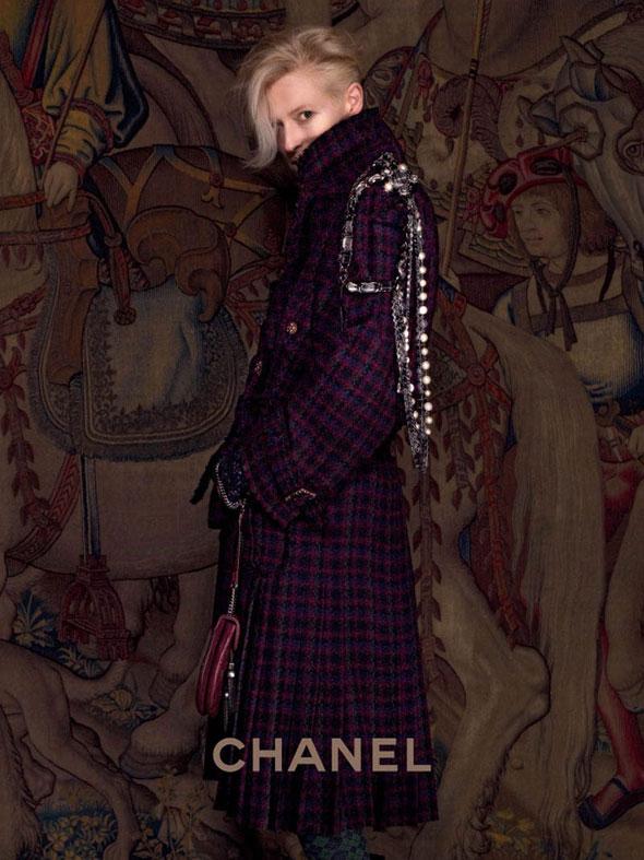 , Tilda Swinton Campagne Chanel Paris Edimbourg Hiver 2013