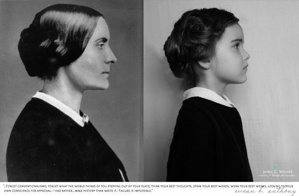 , Not Just a Girl par Jaime Moore : Iconiques Photo Portraits d'une Petite Fille