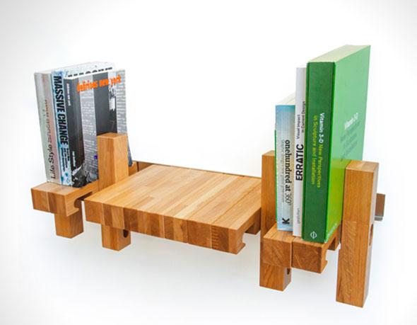 , Fusillo Bookshelf par andViceVersa : Étagère Multifonction pour Livres et Velo