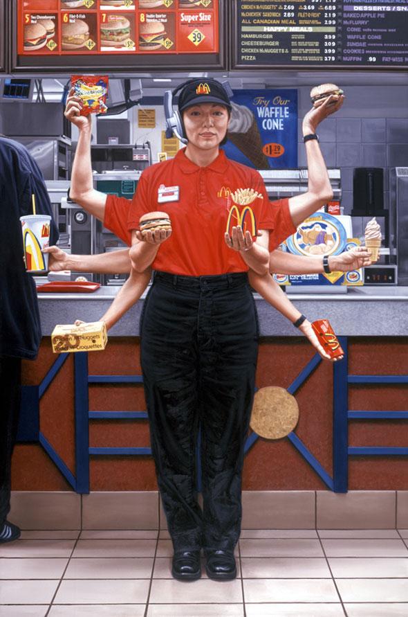 , Fast Food Nation par Chris Woods : Junkfood Sacralisée (illustrations)