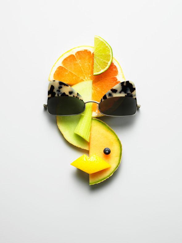 , Food Art et Lunettes de Soleil Ete 2013 par Philip Karlberg