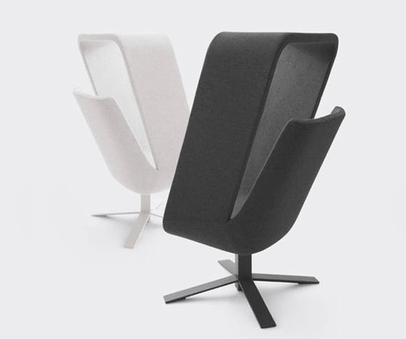 , Haworth Windowseat par Mike & Maaike : Fauteuil Cocon Ouvert