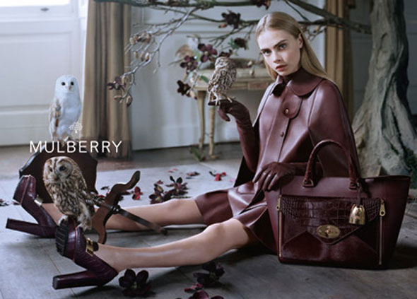 , Campagne Mulberry Hiver 2013 2014 par Tim Walker avec Cara Delevingne