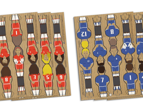 7 foosball cardboard Kickpack Kartoni Baby foot Carton Recycle - Kickpack Kartoni, le Baby Foot en Carton Recyclé (video)