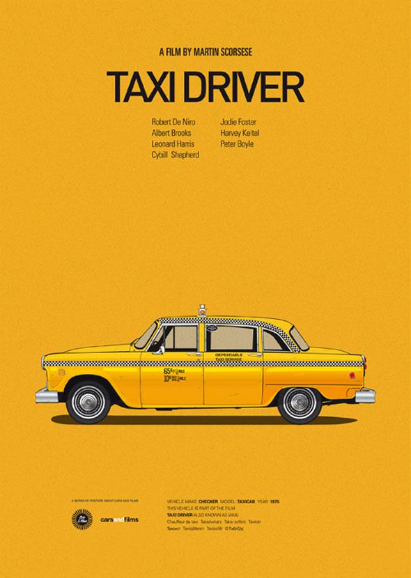 , Cars & Films par Jesus Prudencio : Voitures de Films Cultes (Illustrations)