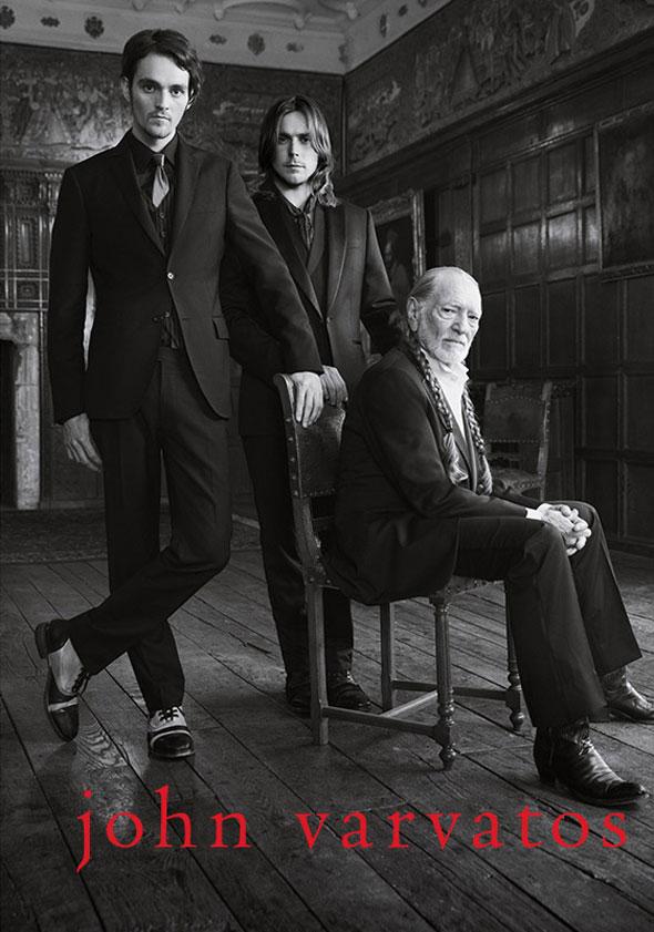 , Campagne John Varvatos Hiver 2013 2014 avec Willie Nelson et Fils