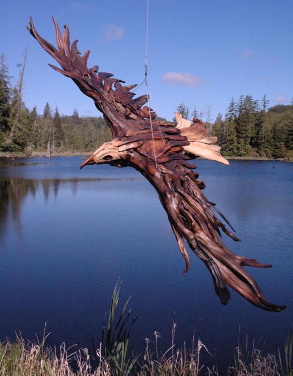 Incroyables Sculptures en Bois Flotté par Jeffro Uitto - MaxiTendance