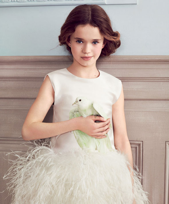 , Baby Dior Automne Hiver 2013 2014 : Les Enfants et Les Oiseaux
