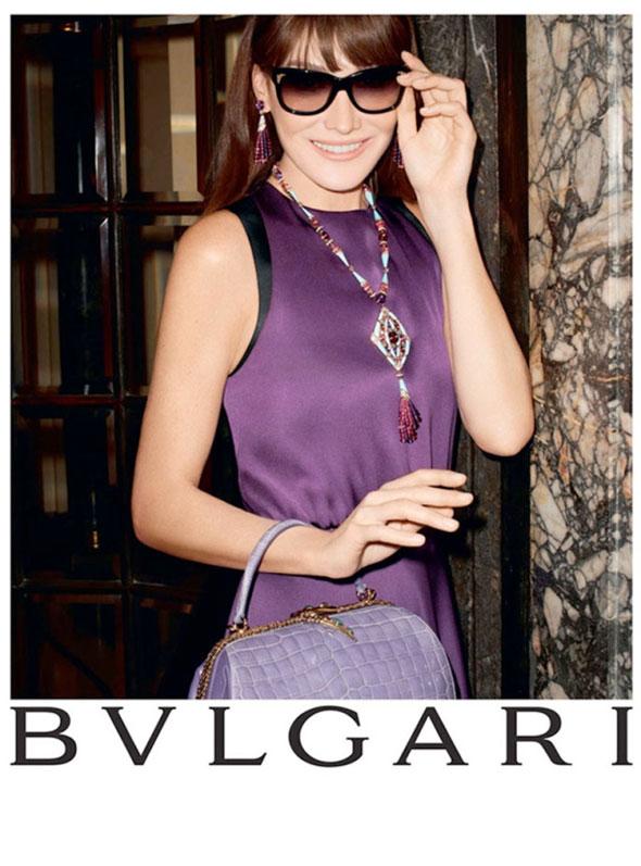 , Bijoux Bulgari Hiver 2013 2014 : Campagne avec Carla Bruni