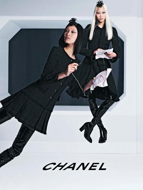 Chanel FW Hiver 2013 2014 Pub Campaign 4 - Chanel Automne Hiver 2013 2014 : Campagne en Apesanteur