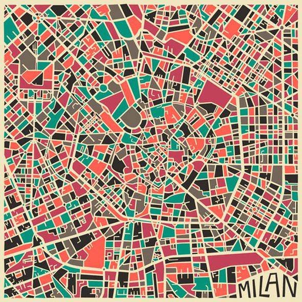 , Jazzberry Blue : Cartographies Abstraites des Grandes Villes