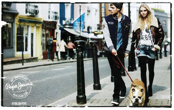 , Pepe Jeans London hiver 2013 2014 : Campagne avec Cara Delevingne