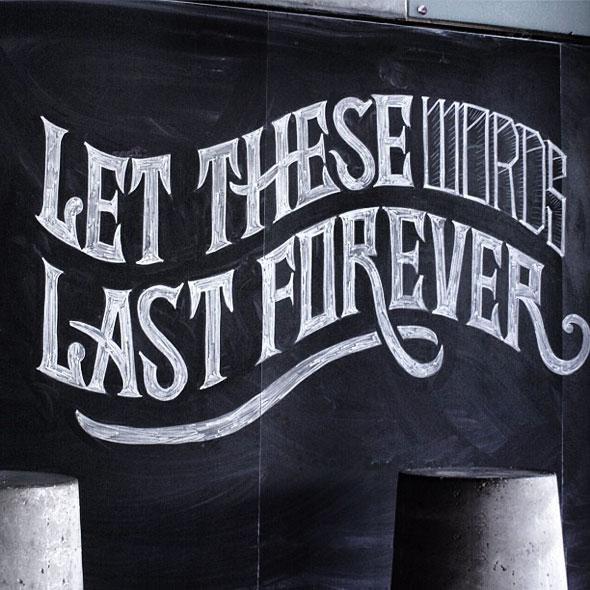 , Typographie par Scott Biersack : Citations Emotionnelles à la Craie