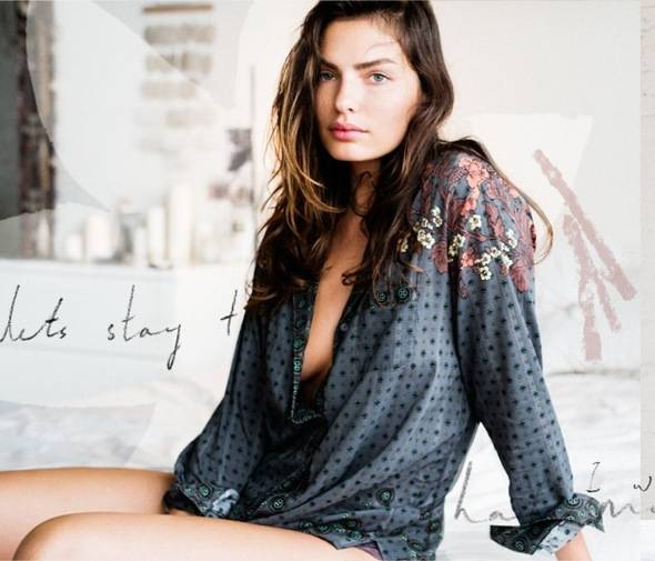 Free People fw Intimates Lingerie hiver 2013 04 - Free People Intimates Rentre 2013 : Lookbook Lingerie avec Alyssa Miller