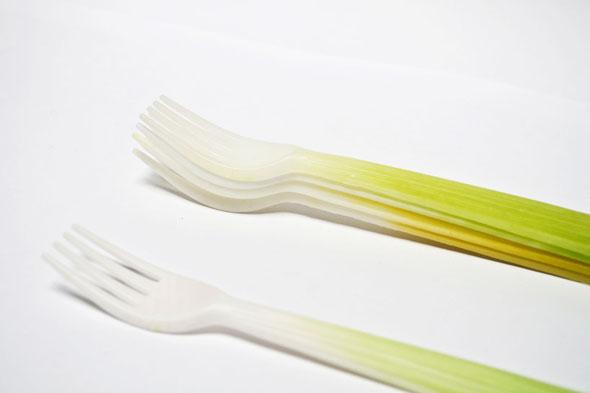 , Graft par Qiyun Deng : Légumes Ustensiles de Cuisine Biodégradables