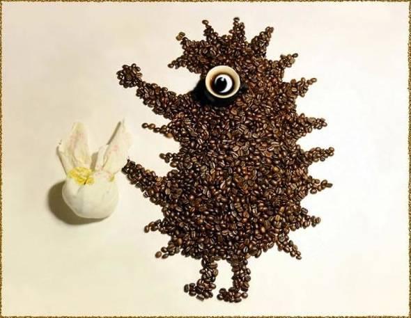 , Photographies par Irina Nikitina : Adorables Animaux en Grains de Café