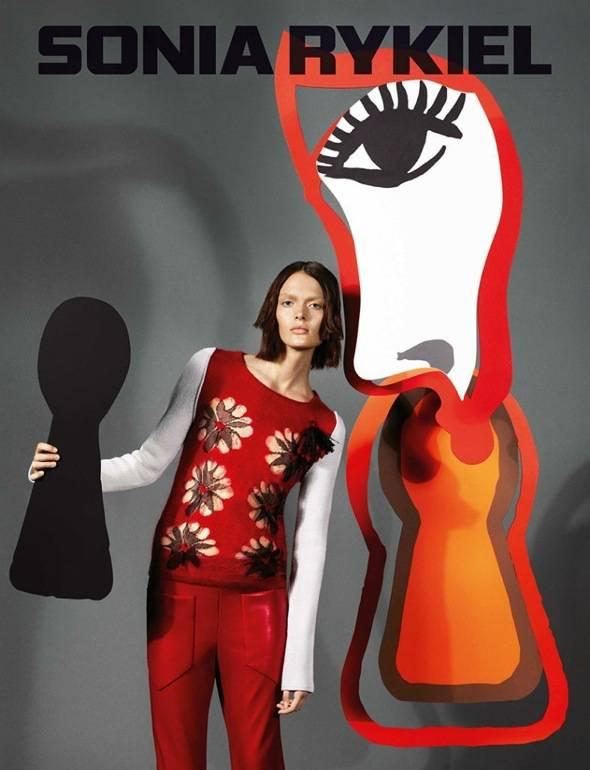 , Sonia Rykiel Automne Hiver 2013 2014 : Campagne à la Mode de Dali