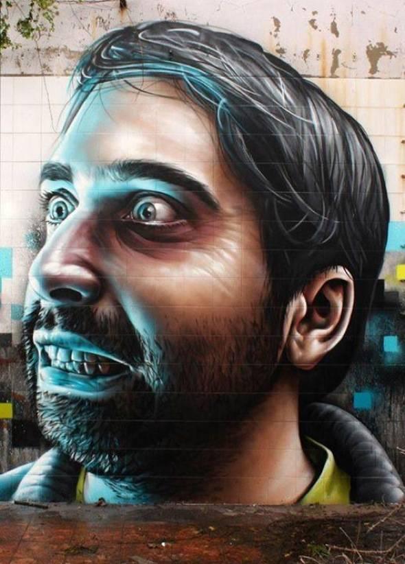 , Street Art par Smug One : Impressionnants Portraits Hyper Réalistes