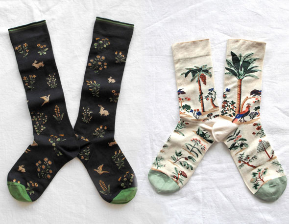 , Chaussettes Bonne Maison Hiver 2013 : Fantaisie Made in France