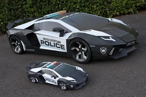 voiture de police lamborghini aventador a-e2 : etonnante replique