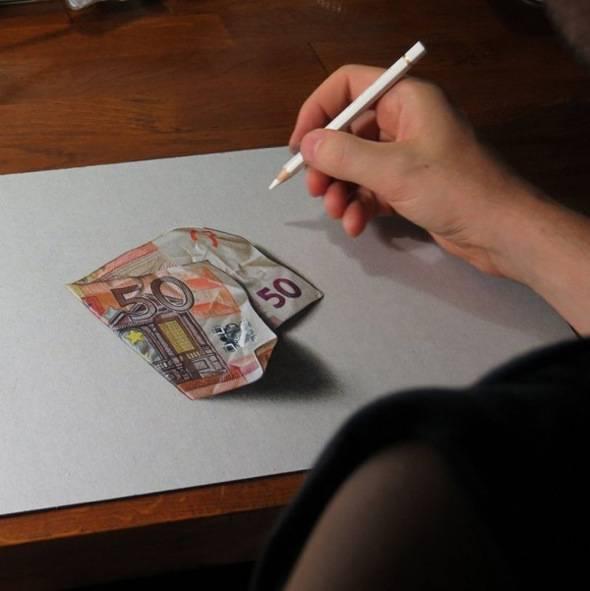 Dessins par Marcello Barenghi : Realisme 3D aux Crayons de ...