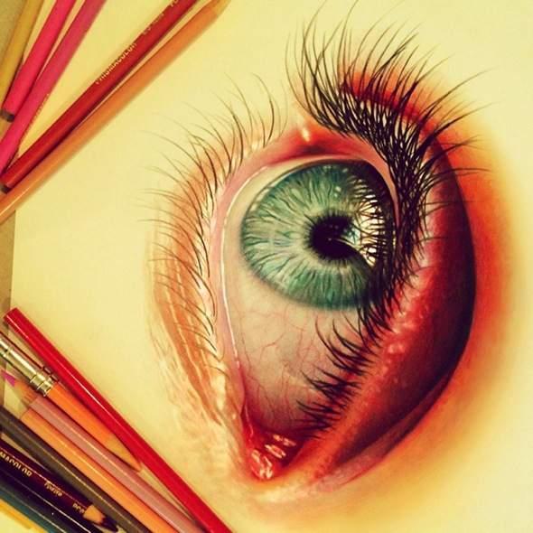 , Illustrations par Morgan Davidson : Portraits Réalistes aux Crayons de Couleurs