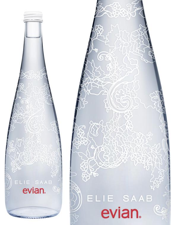 Evian Edition Limitee Noel 2014 Noel 2013 2 - Evian Edition Limitée 2014 : Inspirée par A Lace Garden d'Elie Saab (video)