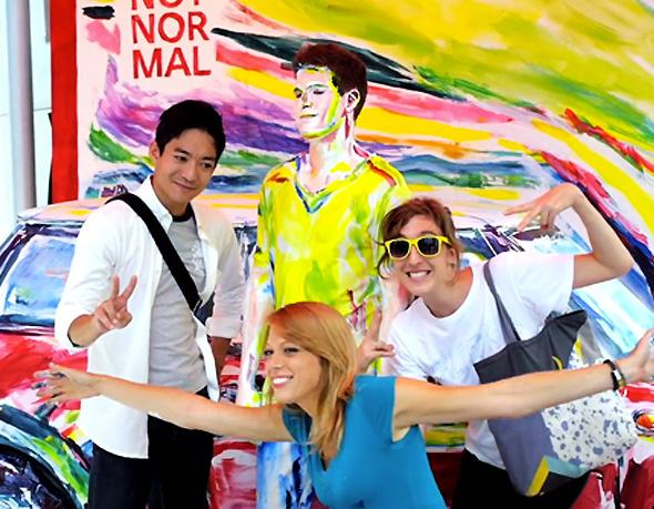 , Mini Japan x Alexa Meade Art In Shibuya : Marketing et Peinture Anamorphique (video)