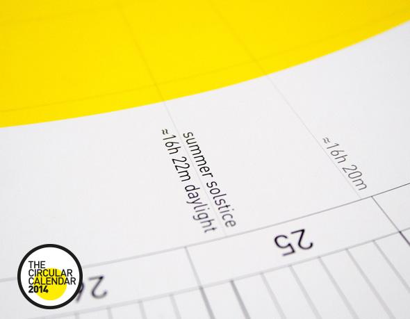 , The Circular Calendar 2014 par Sören Lachnit : Calendrier Circulaire en Poster