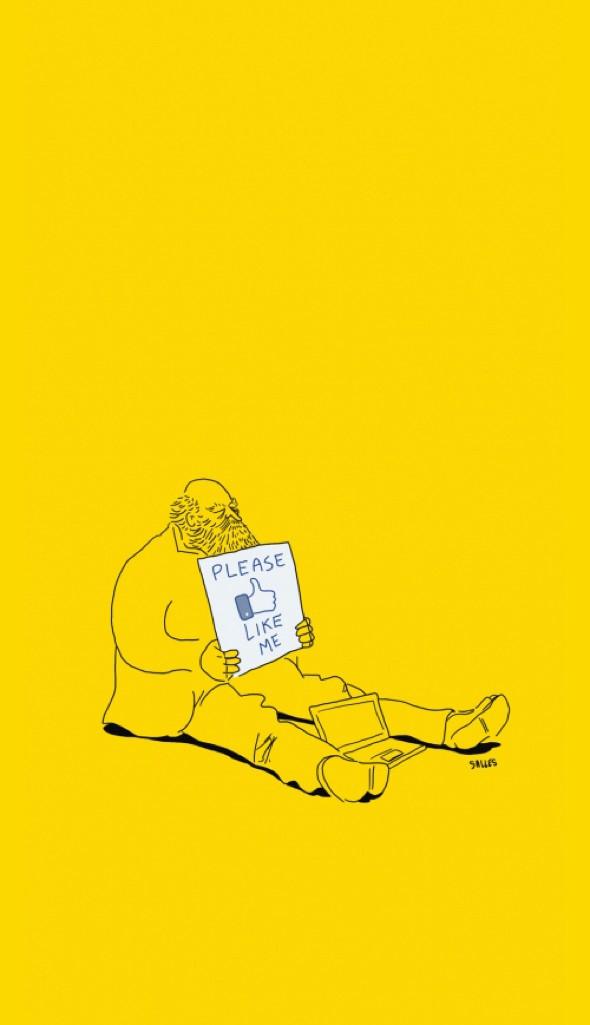 , Illustrations Minimalistes par Eduardo Salles : Drôlement Cyniques