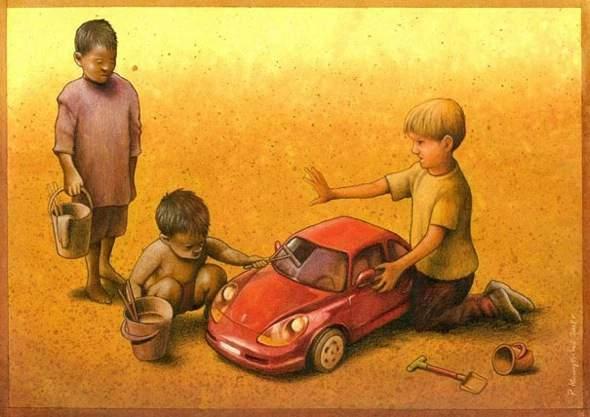, Illustrations par Pawel Kuczynski : Dessin Satirique Corrosif