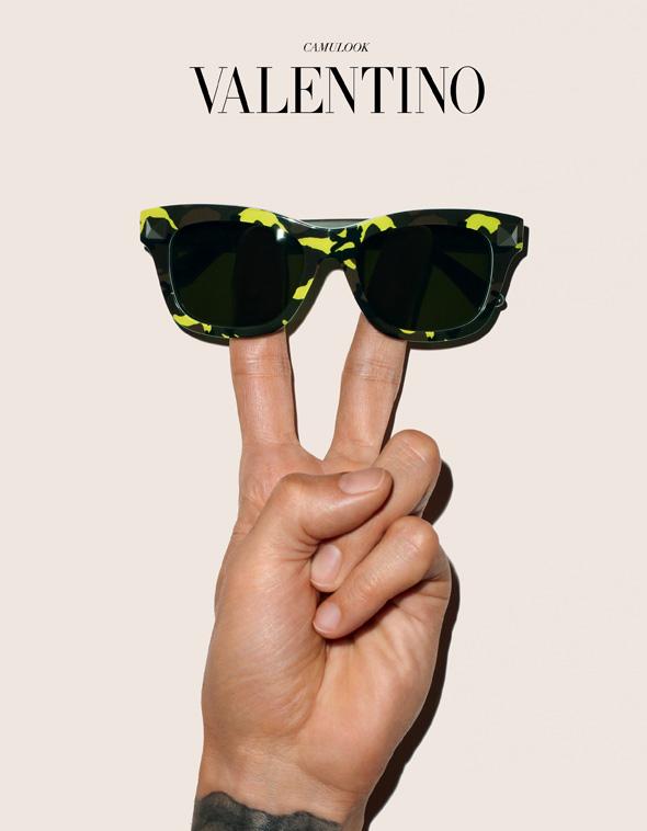 , Lunettes de Soleil Valentino CamuLook : Retour du Camouflage
