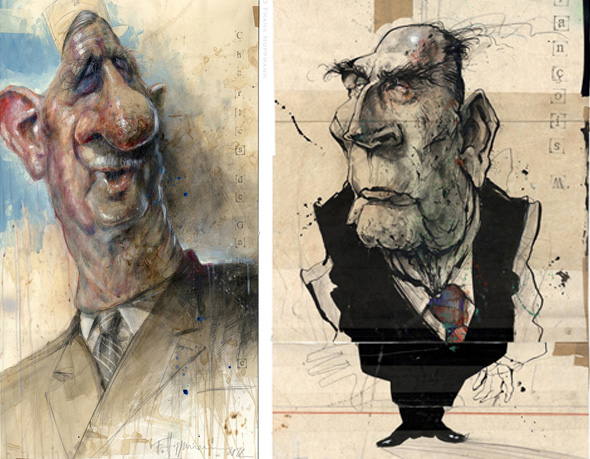 , The Presidents of France par Frank Hoppmann : Caricatures Présidentielles