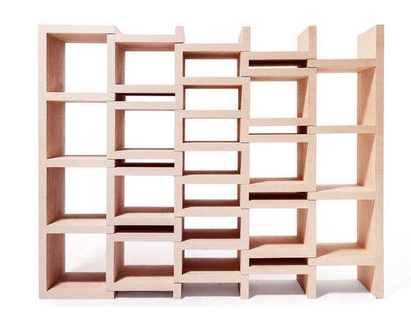 , REK Bookcase jr par Reinier de Jong : Bibliothèque Escamotable pour Enfants