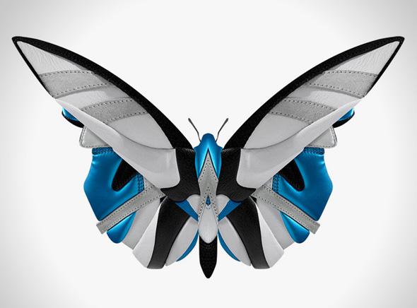 , Sneakers par Phil Robson alias Filfury : Baskets en Tête de Mort et Insectes