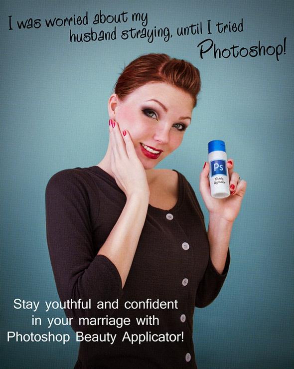 , Beauty is Only Pixel Deep par Anna Hill : Fausse Pub pour Maquillage Photoshop