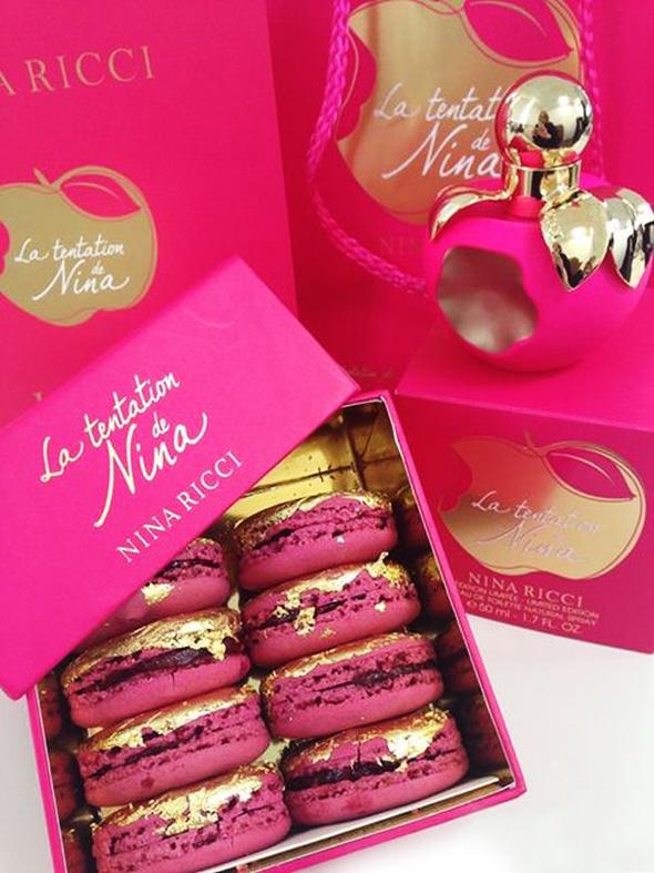 Nina Ricci Laduree Parfum 2014 Nina Macarons Fleur 1 - Nina Ricci x Laduree : Parfum Gourmand et Tentation de Macarons
