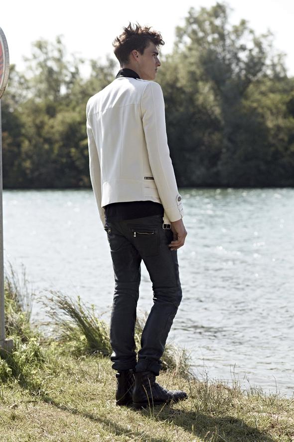 , Balmain Homme Printemps Ete 2014 : Campagne en Marinière et Perfecto