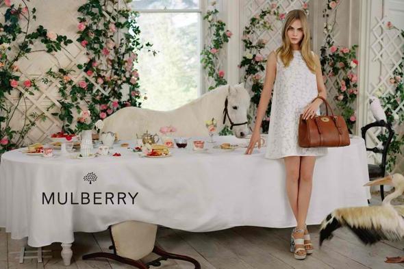, Campagne Mulberry Printemps Été 2014 : Tea Time par Tim Walker