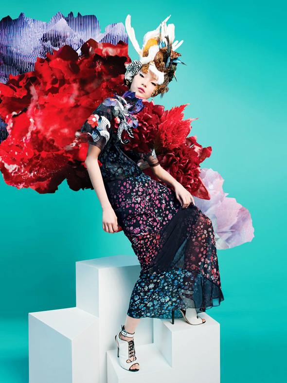 , Lane Crawford Printemps Eté 2014 : Xiao Wen Ju un Papillon en Campagne