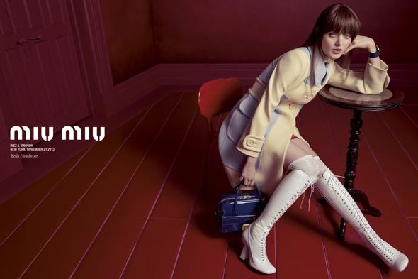 , Campagne Miu Miu Printemps Été 2014 : Stars Montantes de Cinéma à la Mode